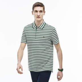 Lacoste Men's Stripe Ribbed Collar Piqu Polo Shirt