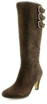 Bella Vita 50-4806 Women Ww Round Toe Synthetic Brown Knee High Boot.
