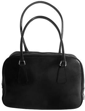 One Kings Lane Vintage Prada Black Leather Satchel Bag