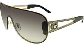 Versace Women's Gradient VE2166-12528G-41 Black Wrap Sunglasses