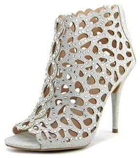Zigi Darlah Women Peep-toe Synthetic Silver Bootie.