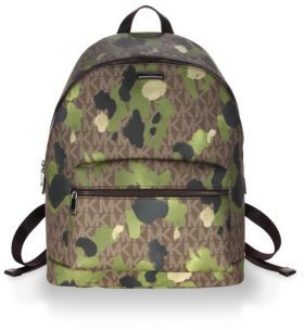 Michael Kors Camouflage-Print Leather Backpack