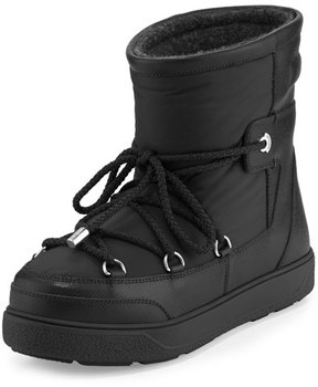 Moncler Fanny Lace-Up Leather Ankle Boot