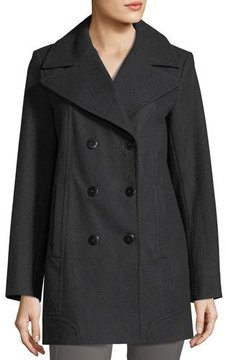 Andrew Marc Winnie Double-Breasted Wool-Blend Coat