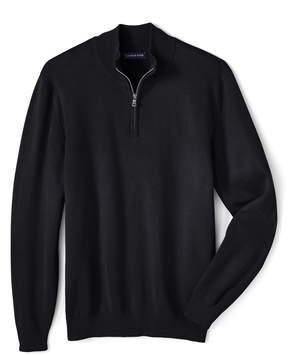 Lands' End Lands'end School Uniform Men's Regular Performance Half-zip Mock Sweater