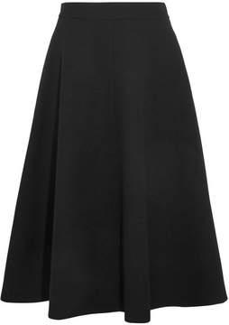 Bottega Veneta Wool-crepe Midi Skirt - Black