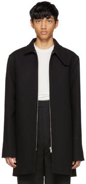 Rick Owens Black Wool Jumbo Brother Coat