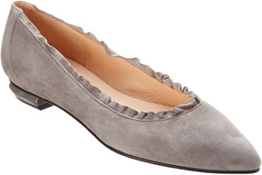 French Sole Chianti Suede Flat