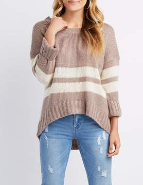 Charlotte Russe Varsity Stripe Pullover Sweater