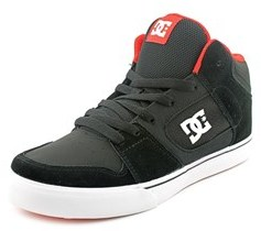 DC Patrol Youth Round Toe Suede Black Skate Shoe.