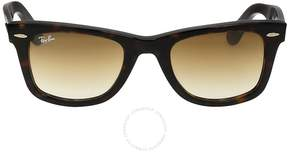 Ray-Ban Original Wayfarer Classic Light Brown Gradient Lens Tortoise Acetate Sunglasses
