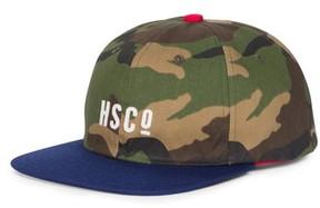 Herschel Men's Mosby Camo Snapback Baseball Cap - Green