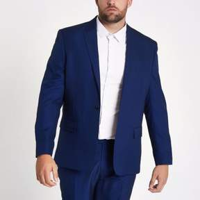 River Island Mens Big and Tall blue slim fit suit jacket