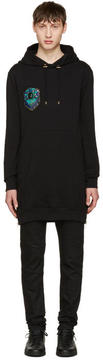 Balmain Black Long Embroidered Hoodie