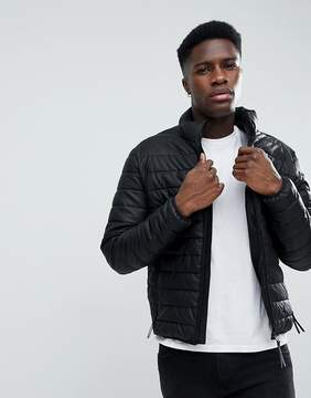 Esprit Faux Leather Quilted Jacket