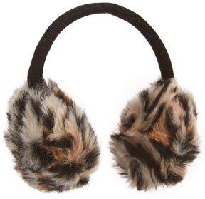 Copper Key Leopard Faux-Fur Ear Muffs