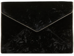 Rebecca Minkoff Leo Velvet Envelope Clutch Bag - BERRY - STYLE