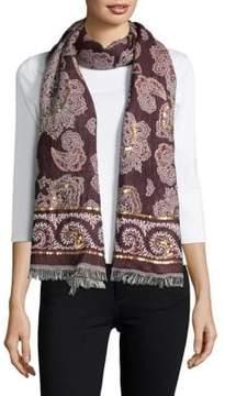 Echo Embellished Wrap Wool Scarf