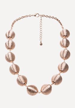 Bebe Metallic Thread Necklace