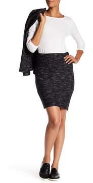 Blanc Noir Tweed Pencil Skirt