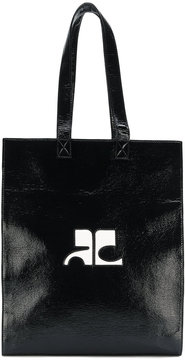 Courrèges logo shopper tote