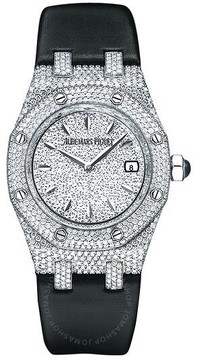 Audemars Piguet Royal Oak Diamond Pave 18 kt White Gold Ladies Watch