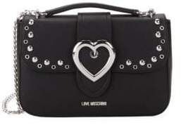 Love Moschino Studded Heart Buckle Crossbody Bag