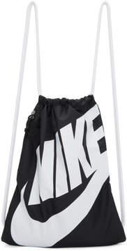 Nike Black Heritage Logo Gym Backpack