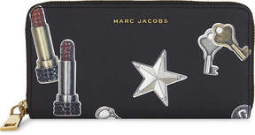 Marc Jacobs Charm print leather continental wallet - BLACK MULTI - STYLE