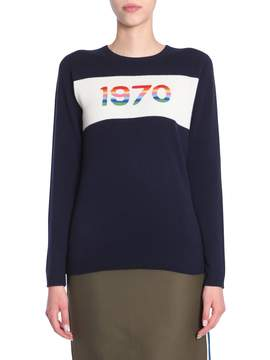 Bella Freud Sweater With 1970 Rainbow Intarsia