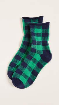 Plush Thin Rolled Fleece Socks