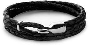 Miansai Trice Black Leather Bracelet with Sleeve