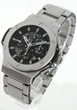 Hublot Big Bang Aero Bang Black Skeleton Dial Steel Men's Watch 311SX1170SX
