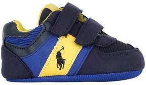 Ralph Lauren Faux Suede & Mesh Details Sneakers