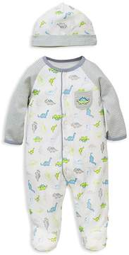 Little Me Boys' Tiny Dinos Footie & Hat Set - Baby