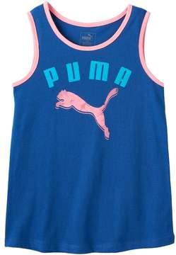 Puma Girls 7-16 Contrast Trim Sugar Glitter Graphic Tank Top