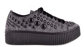 Pinko Women's Grey Viscose Sneakers.