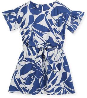 Milly Minis Chandlar Poplin Floral Dress, Size 4-7