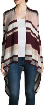 Almost Famous Long Sleeve Round Neck Open Front Cardigan-Juniors