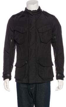 Ralph Lauren Black Label Leather-Trimmed Field Jacket