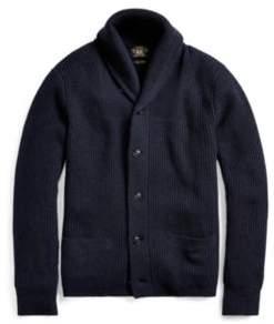 Ralph Lauren Cashmere Shawl-Collar Cardigan Navy Xs