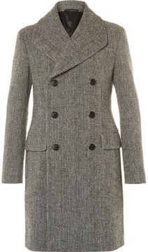 Prada Slim-Fit Double-Breasted Virgin Wool-Blend Bouclé Overcoat