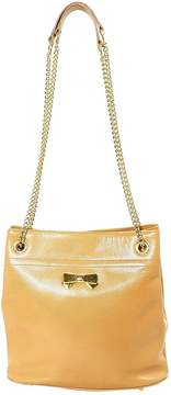 Nina Ricci Vintage Beige Leather Handbag