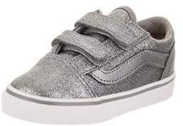 Vans Toddlers Old Skool V (glitter + Metallic) Skate Shoe.
