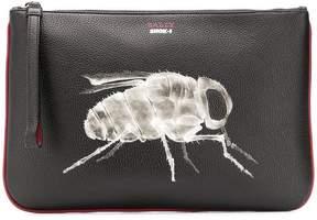 Bally bee x-ray clutch bag
