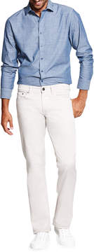 DL1961 Premium Denim Casual Slim Straight-Leg Jeans, White