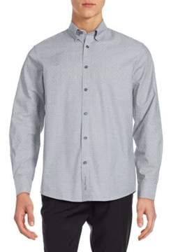 Ben Sherman Cotton Ditsy-Patterned Shirt
