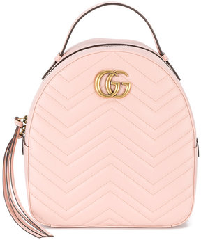 Gucci GG marmont quilted backpack - PINK & PURPLE - STYLE