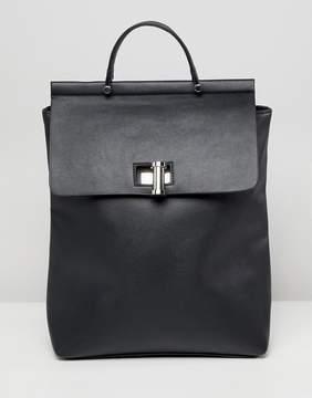 Asos DESIGN oversize twistlock pinch top backpack