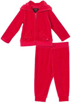 Juicy Couture Velour Scottie Crest Ruffle Pocket Set for Baby